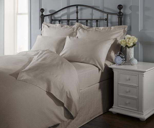 Cearceaf de pat cu elastic, 400TC - Stone-big